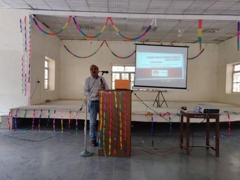 Dr. Ashok Gupta concluding the session